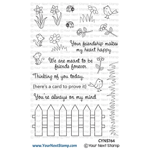 Your Next Stamp FRIENDSHIP FENCE Clear cyns764 Preview Image