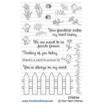 Your Next Stamp FRIENDSHIP FENCE Clear cyns764