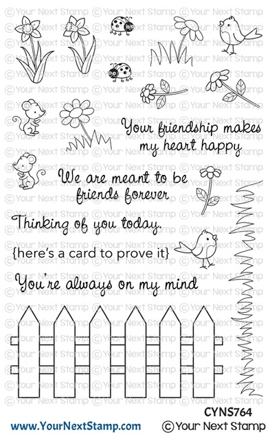 Your Next Stamp FRIENDSHIP FENCE Clear cyns764 zoom image