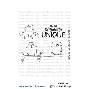 Your Next Stamp QUIRKY FUN OWLS Clear cyns765