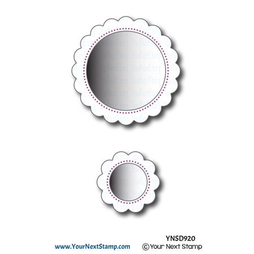 Your Next Die SCALLOP CIRCLE FRAMES WITH PIERCING MARKS ynsd920 Preview Image