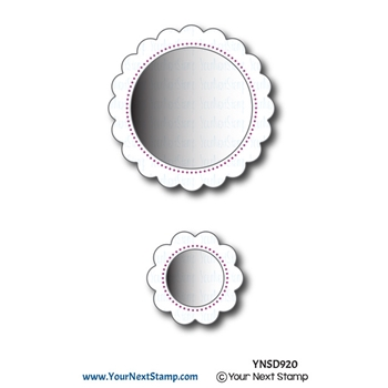 Your Next Die SCALLOP CIRCLE FRAMES WITH PIERCING MARKS ynsd920