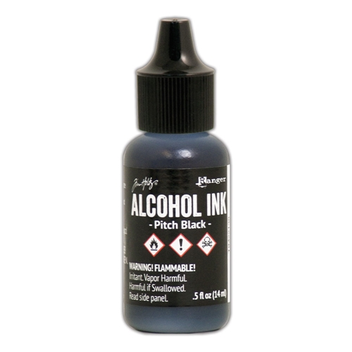 Tim Holtz Pitch Black Alcohol Ink