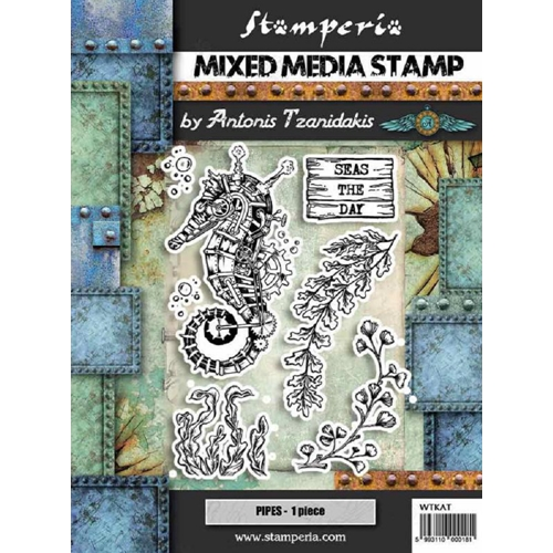Stamperia SEA WORLD SEAHORSE Stamps wtkat11 Preview Image