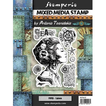 Stamperia SEA WORLD LADY Stamps wtkat09