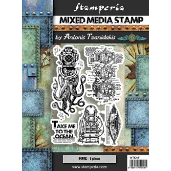 Stamperia SEA WORLD OCTOPUS Stamps wtkat12
