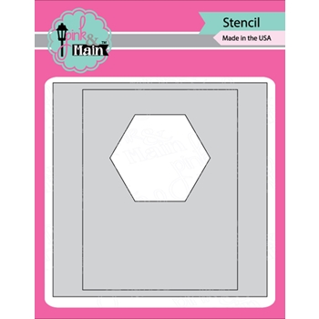 Pink and Main MASK IT HEXAGON Stencil PMS024