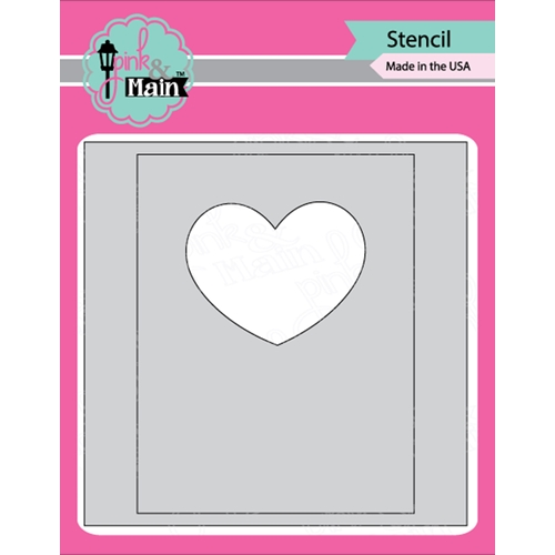 Pink and Main MASK IT HEART Stencil PMS023 Preview Image