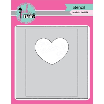 Pink and Main MASK IT HEART Stencil PMS023