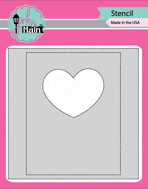 Pink and Main MASK IT HEART Stencil PMS023 zoom image