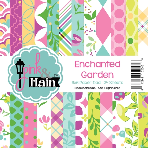 Pink and Main ENCHANTED GARDEN 6x6 Paper Pad 026458 zoom image