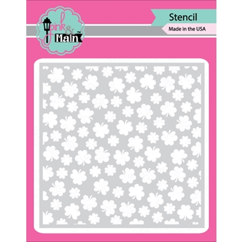 Pink and Main CLOVER Stencil PMS017