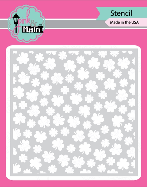 Pink and Main CLOVER Stencil PMS017 zoom image