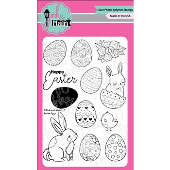 Pink and Main EASTER EGGS Clear Stamps PM0393