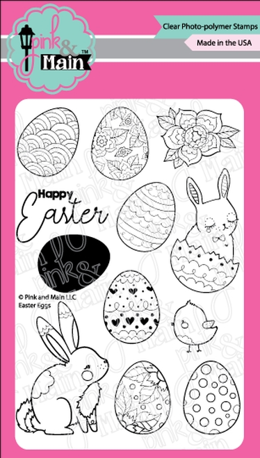 Pink and Main EASTER EGGS Clear Stamps PM0393 zoom image