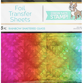 Therm O Web RAINBOW SHATTERED GLASS DecoFoil Foil Transfer Sheets 5549