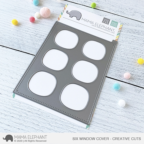 Mama Elephant SIX WINDOW COVER Creative Cuts Steel Dies Preview Image