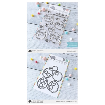 Mama Elephant Clear Stamp and Die MEPT752 Zodiac Sheep SET