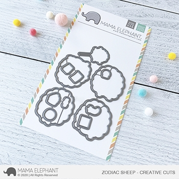 Mama Elephant ZODIAC SHEEP Creative Cuts Steel Dies