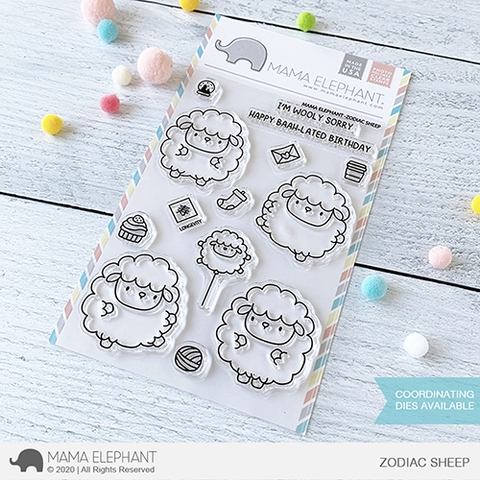 Mama Elephant Clear Stamps ZODIAC SHEEP  Preview Image