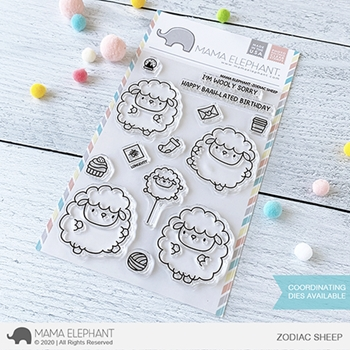 Mama Elephant Clear Stamps ZODIAC SHEEP