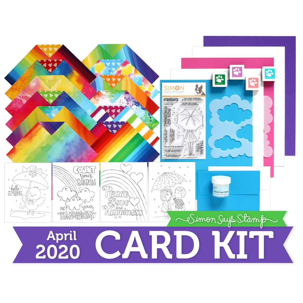 Simon Says Stamp Card Kit of The Month APRIL 2020 FOLLOW THE RAINBOWS ck0420 zoom image
