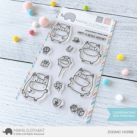Mama Elephant Clear Stamps ZODIAC HORSE Preview Image