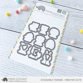 Mama Elephant STACKABLE FRIENDS Creative Cuts Steel Dies