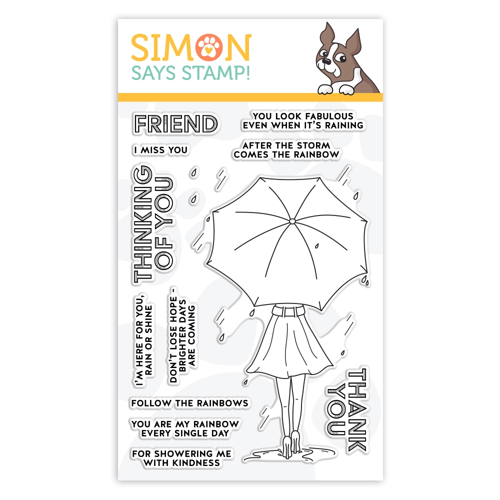 Simon Says Clear Stamps FOLLOW THE RAINBOWS sss102110  zoom image