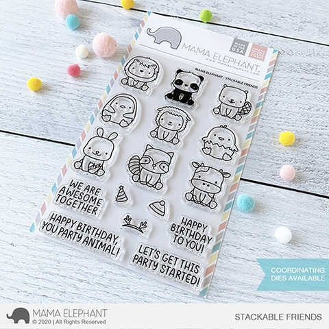 Mama Elephant Clear Stamps STACKABLE FRIENDS Preview Image
