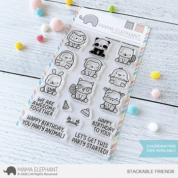 Mama Elephant Clear Stamps STACKABLE FRIENDS