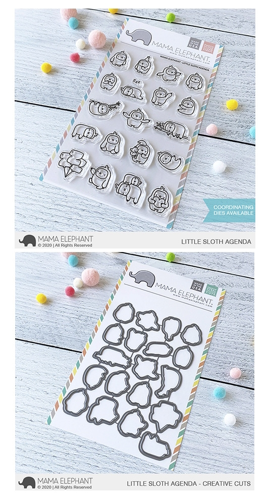 Mama Elephant Clear Stamp and Die MEPT761 Little Sloth Agenda SET zoom image
