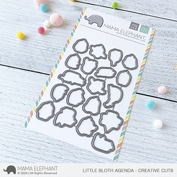 Mama Elephant LITTLE SLOTH AGENDA Creative Cuts Steel Dies
