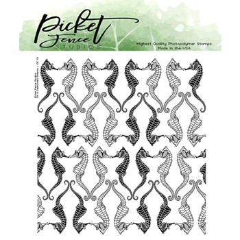 Picket Fence Studios ON A SEAHORSE'S DREAMS Clear Stamp oc112