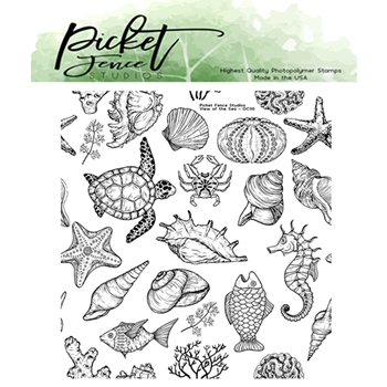 Picket Fence Studios VIEW OF THE SEA Clear Stamp oc110