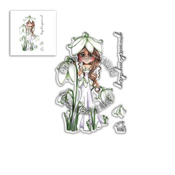 Polkadoodles SNOWDROP DARLING BUD Clear Stamps pd8040