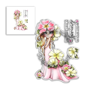 Polkadoodles PRIMROSE DARLING BUD Clear Stamps pd8042