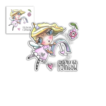 Polkadoodles WEIRDRE RAINBOW DREAMS Clear Stamps pd8064