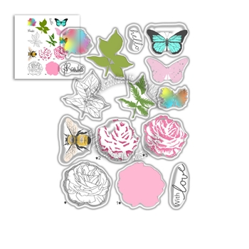 Polkadoodles HONEY ROSE A5 Clear Stamps pd8056
