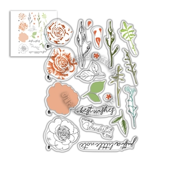 Polkadoodles SPRING ROSE Clear Stamps pd8057