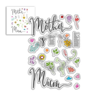 Polkadoodles MOTHER'S DAY SENTIMENTS Clear Stamps pd8058