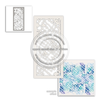 Polkadoodles DISTRESSED TRELLIS Stencil pd8008