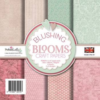 Polkadoodles BLUSHING BLOOMS 6x6 Paper Pack pd8044