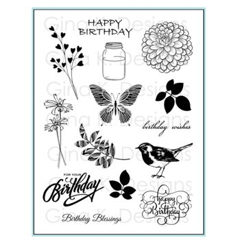 Gina K Designs BIRTHDAY BLESSINGS Clear Stamps 0465