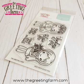 The Greeting Farm MISS ANYA BLESS YOU Clear Stamps tgf541