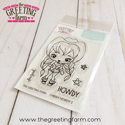 The Greeting Farm CHEEKY HOWDY 2 Clear Stamps tgf539 zoom image