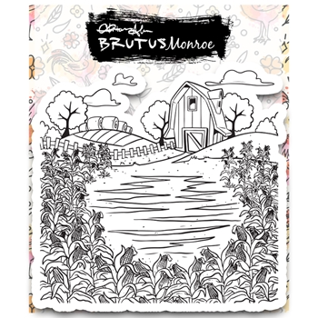 Brutus Monroe FARMLAND BACKGROUND Clear Stamp bru2743
