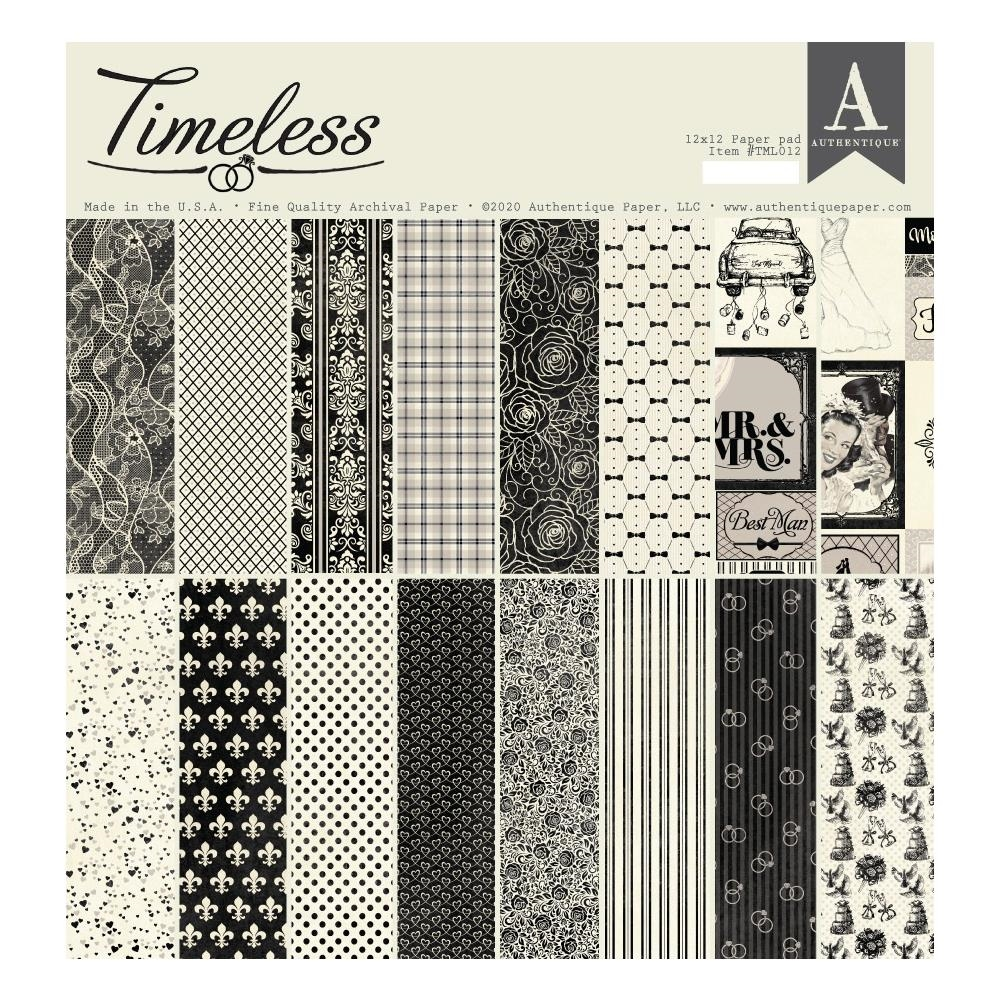 Authentique TIMELESS 12 x 12 Paper Pad tml012 zoom image