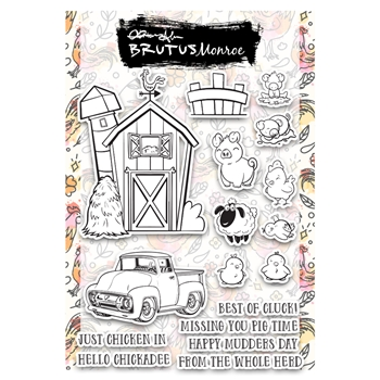 Brutus Monroe FARMHOUSE FRIENDS Clear Stamps bru2736