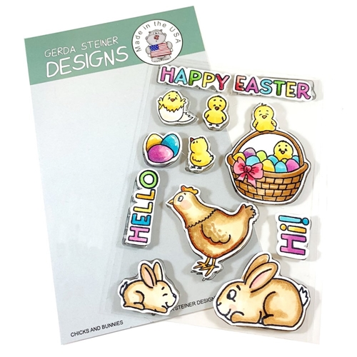 Gerda Steiner Designs CHICKS AND BUNNIES Clear Stamp Set gsd722* Preview Image